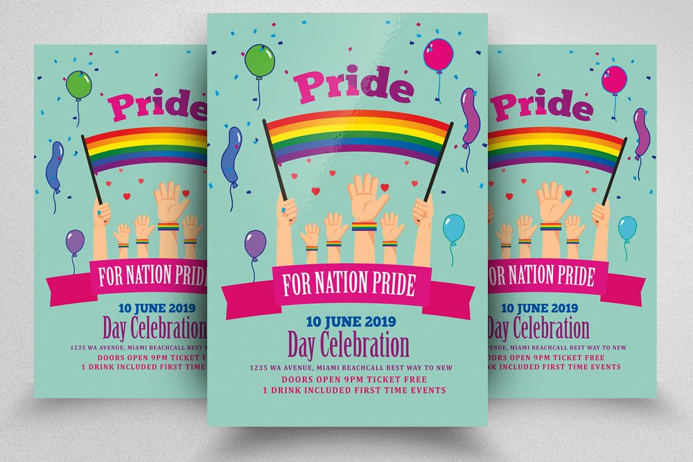 LGBT Pride Month Flyer example image 1