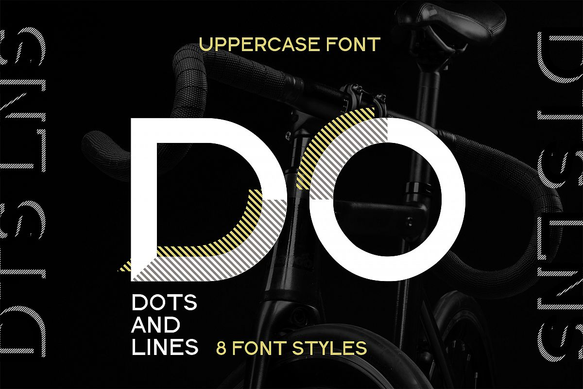 DOTS & LINES uppercase modern font example image 1