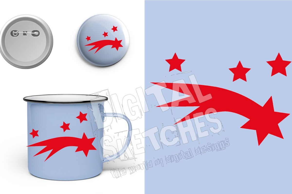 Shooting Star Cut File Vector Graphics Illustration example image 1