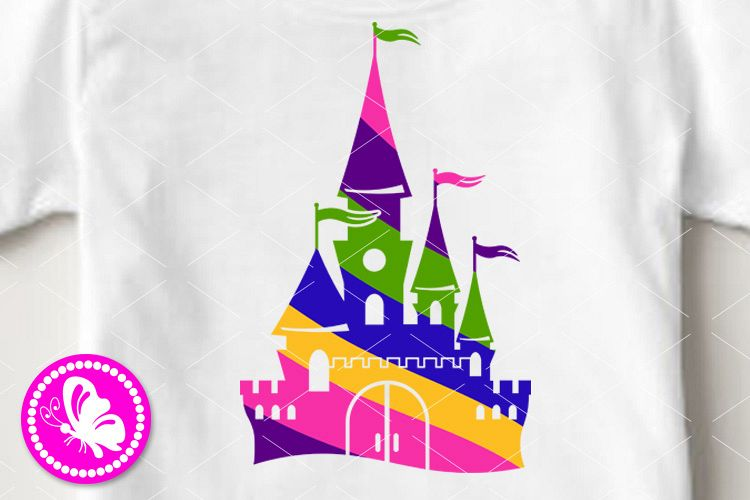Magic palace svg Colorful castle clip art Cricut png dxf eps example image 1