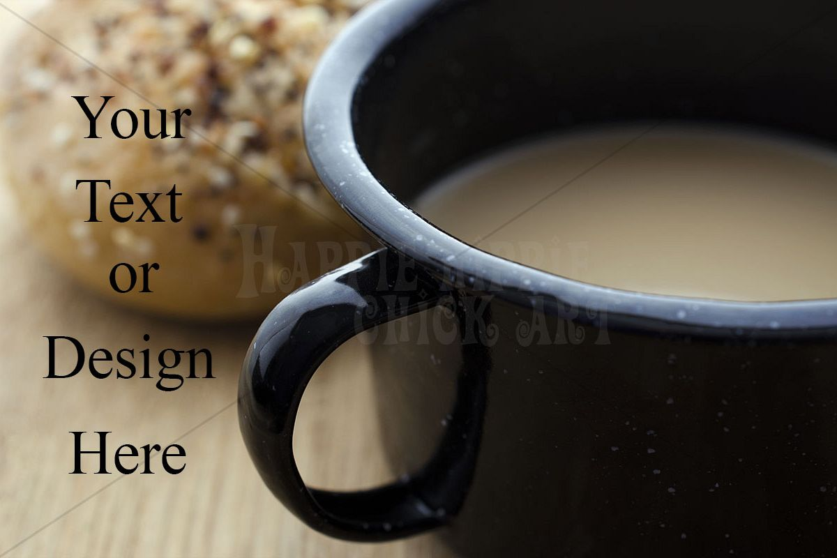 Coffee in a Tin Cup Photograph example image 1