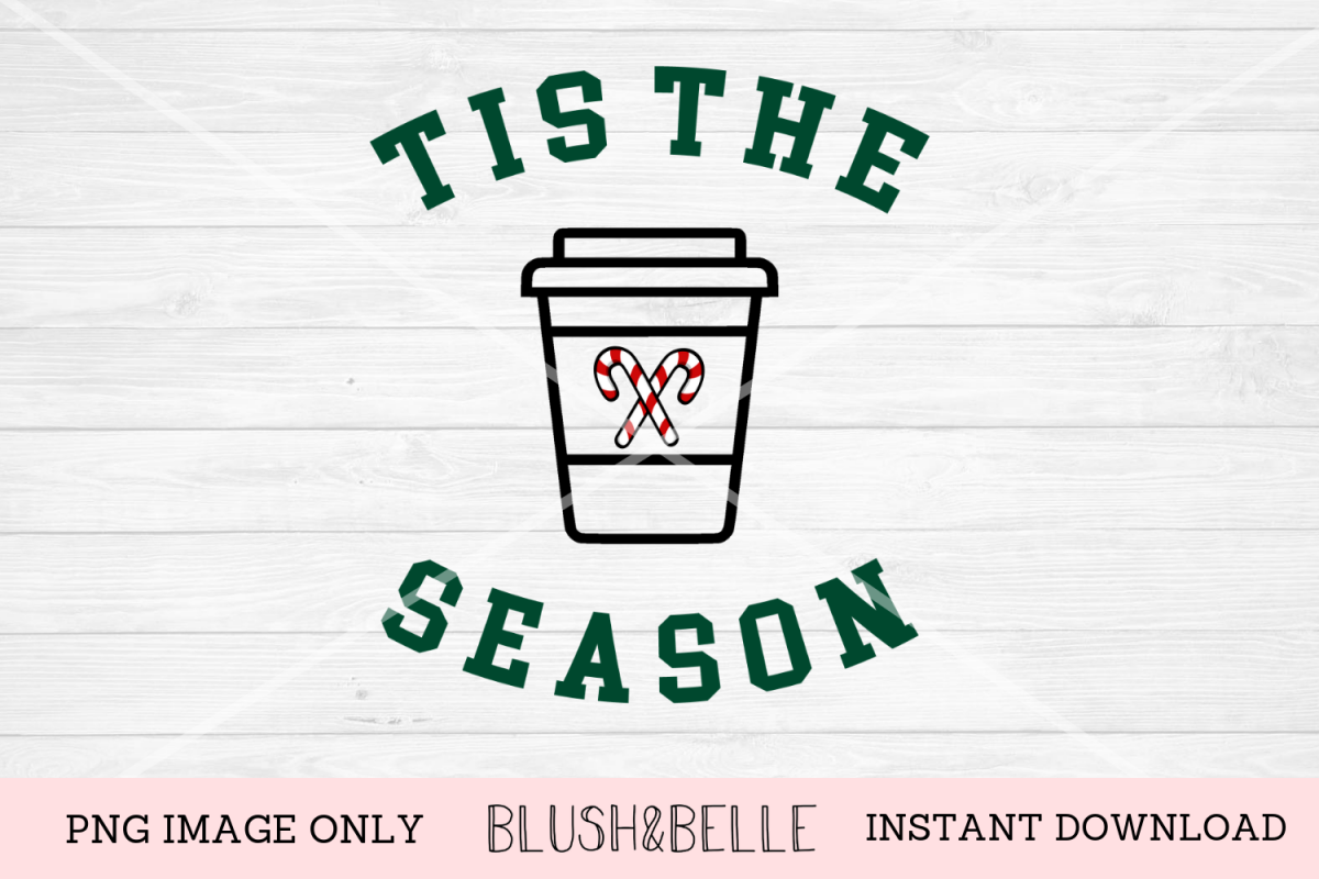 Tis The Season Peppermint Latte- PNG Image Only example image 1