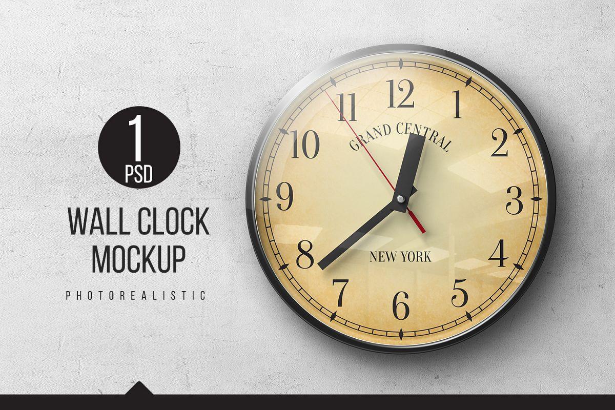 Wall Clock Mockups example image 1