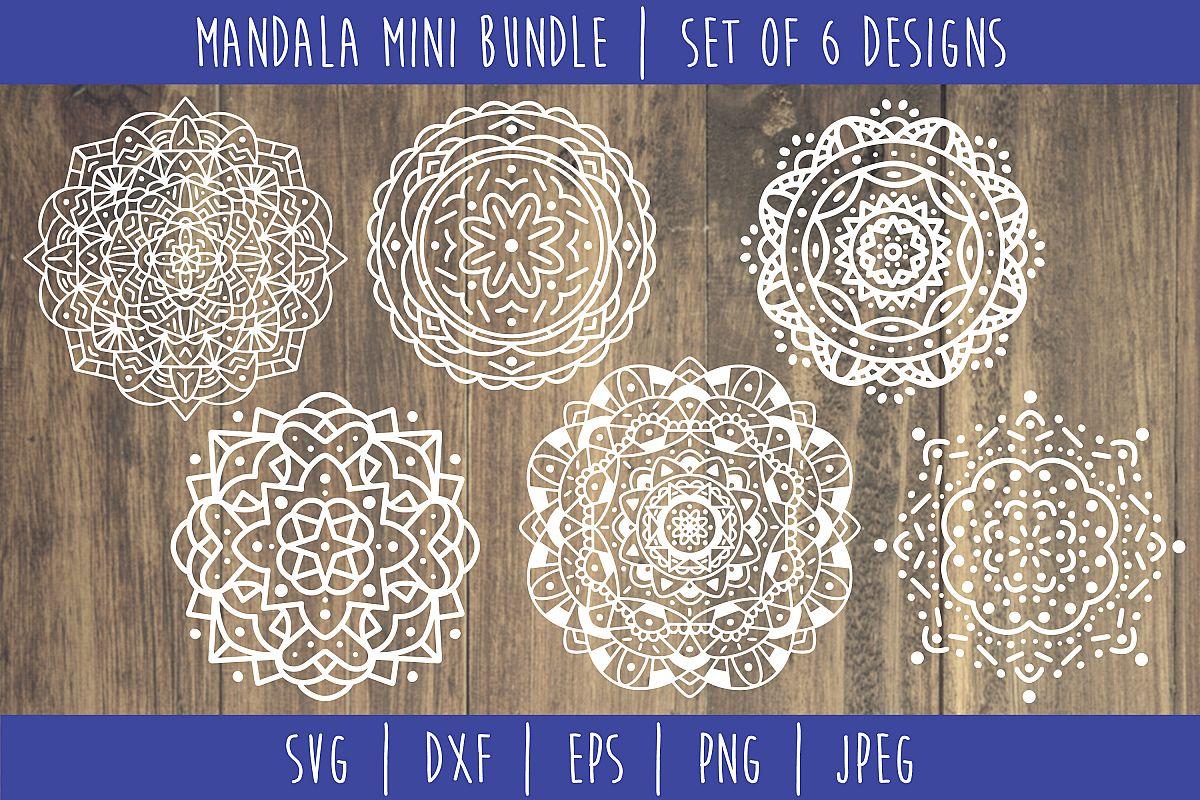 Mandala Mini Bundle Set of 6- SVG example image 1