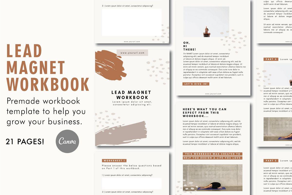 Lead Magnet Template | Lead Magnet Workbook | Opt In Freebie