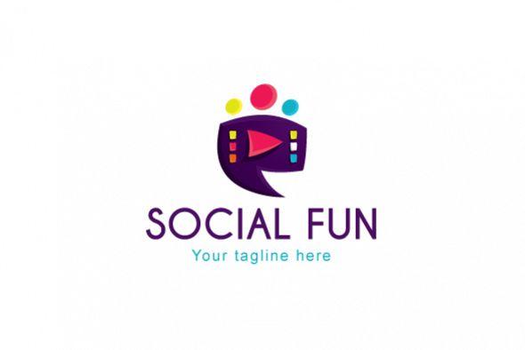 Social Fun - Chat Box Stock Logo Template example image 1