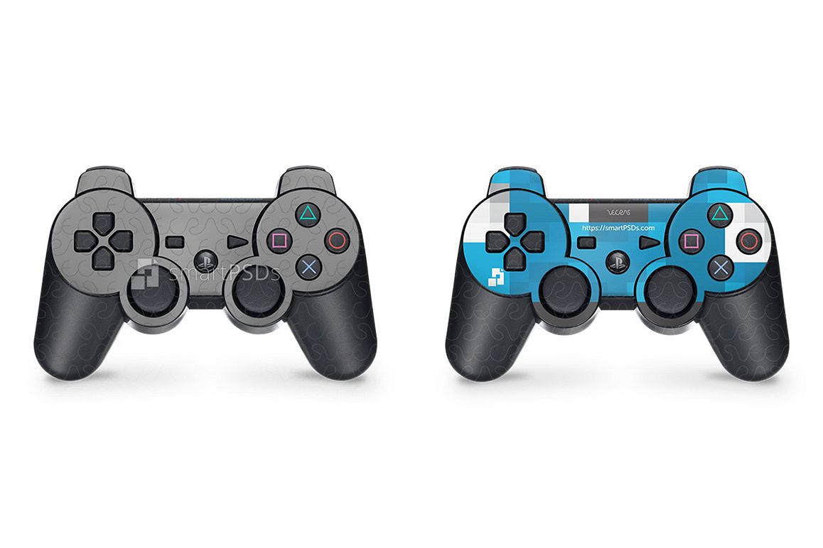 Sony PS3 DualShock Controller Skin Design Template example image 1
