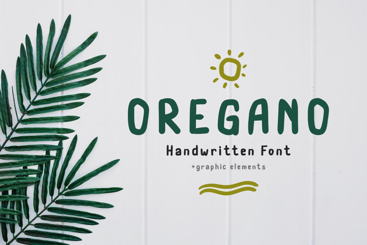 Oregano Handwritten Font example image 1