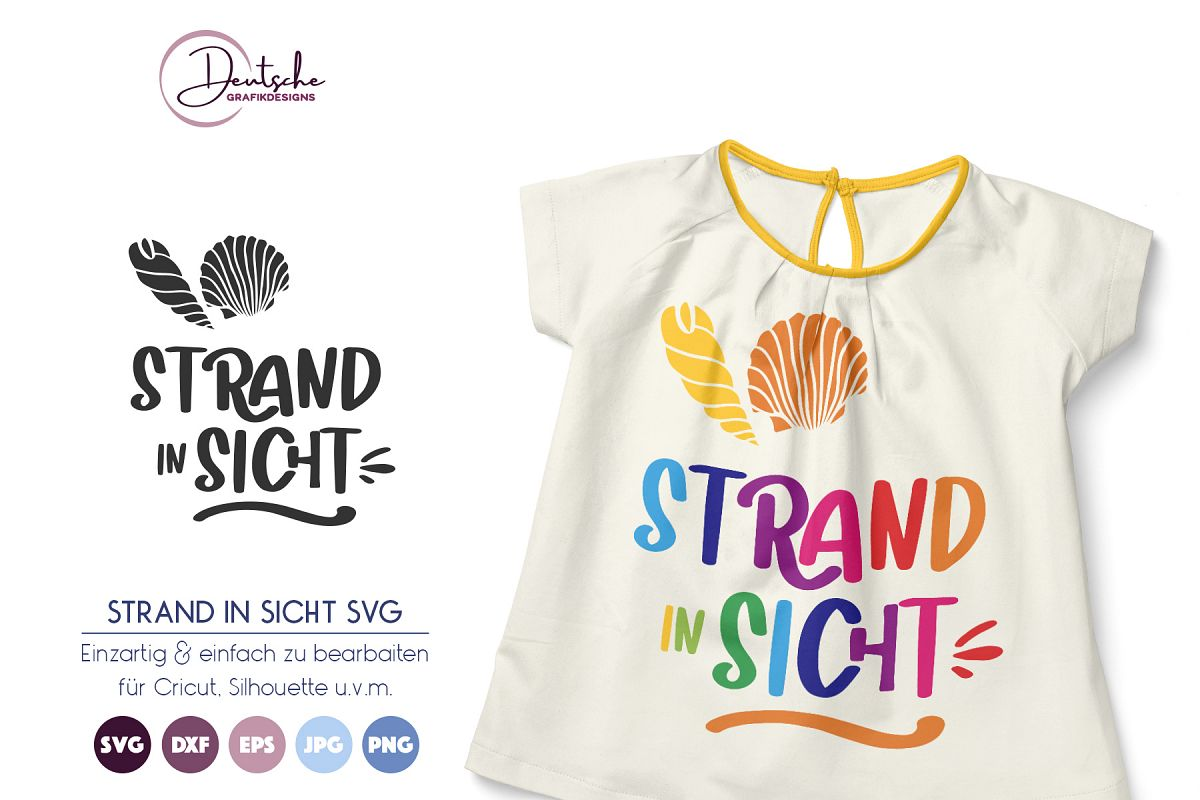 Strand in Sicht | Sommer SVG example image 1