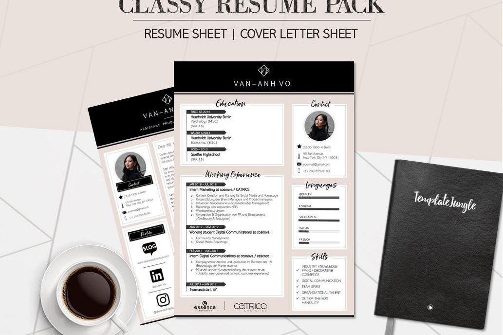 modern resume template pack - classy