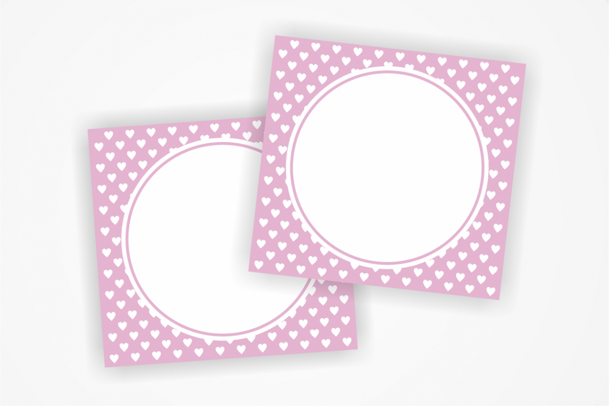 Blank Printable Tags: Printable PINK Tags With Small Hearts, Label,Heart Card