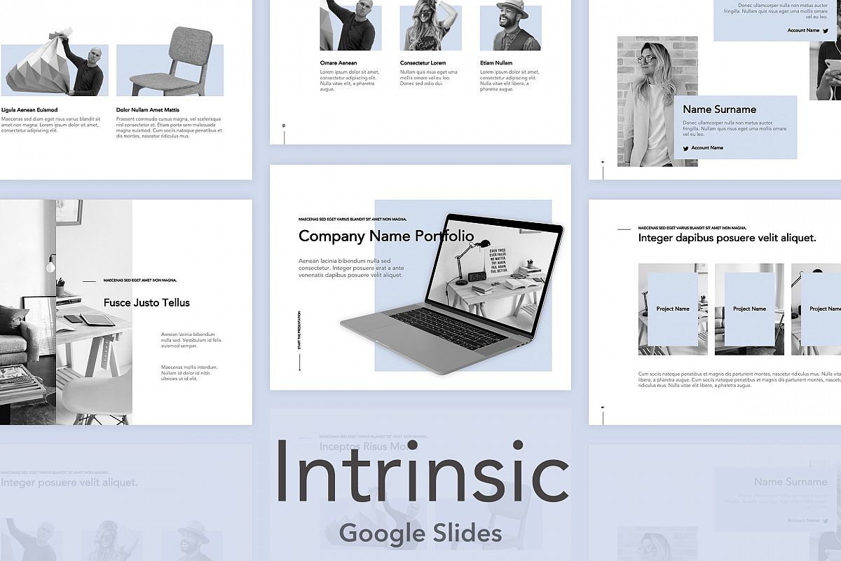 Intrinsic Google Slides Template example image 1