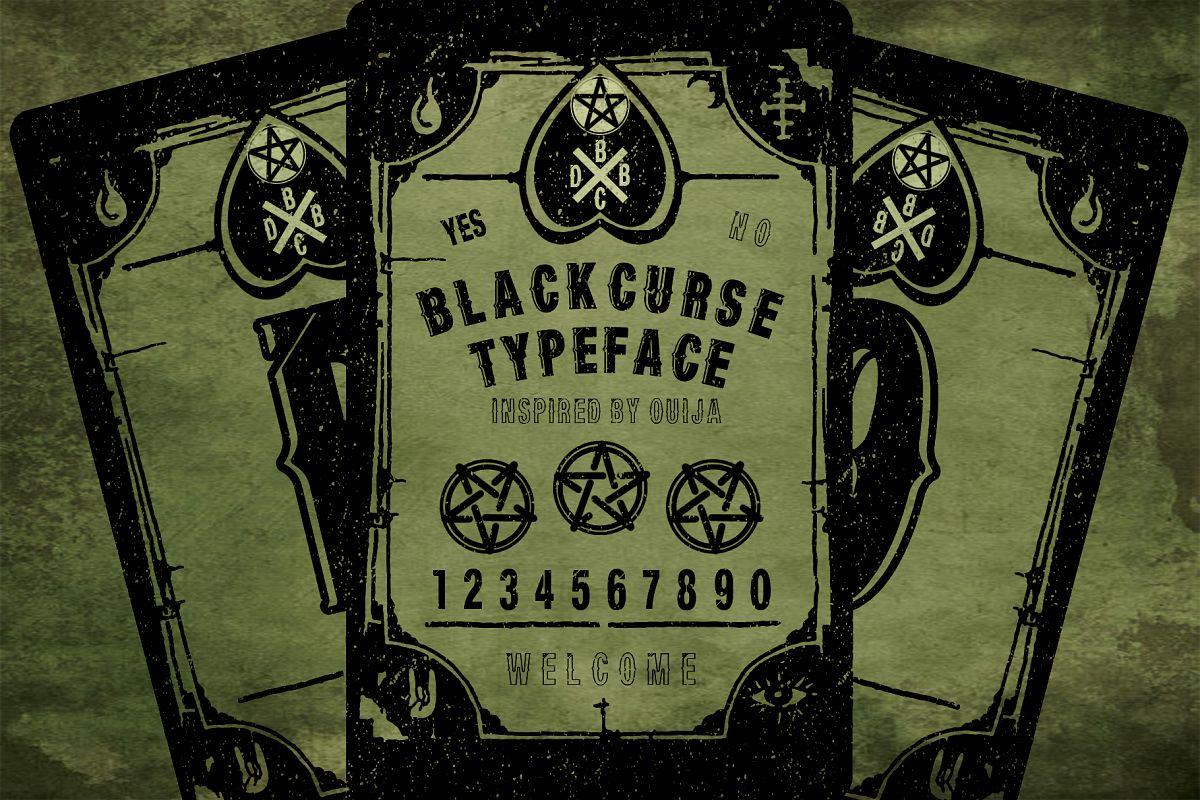 BLACKCURSE FONT example image 1