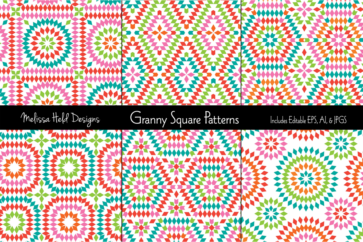 Granny Square Patterns example image 1
