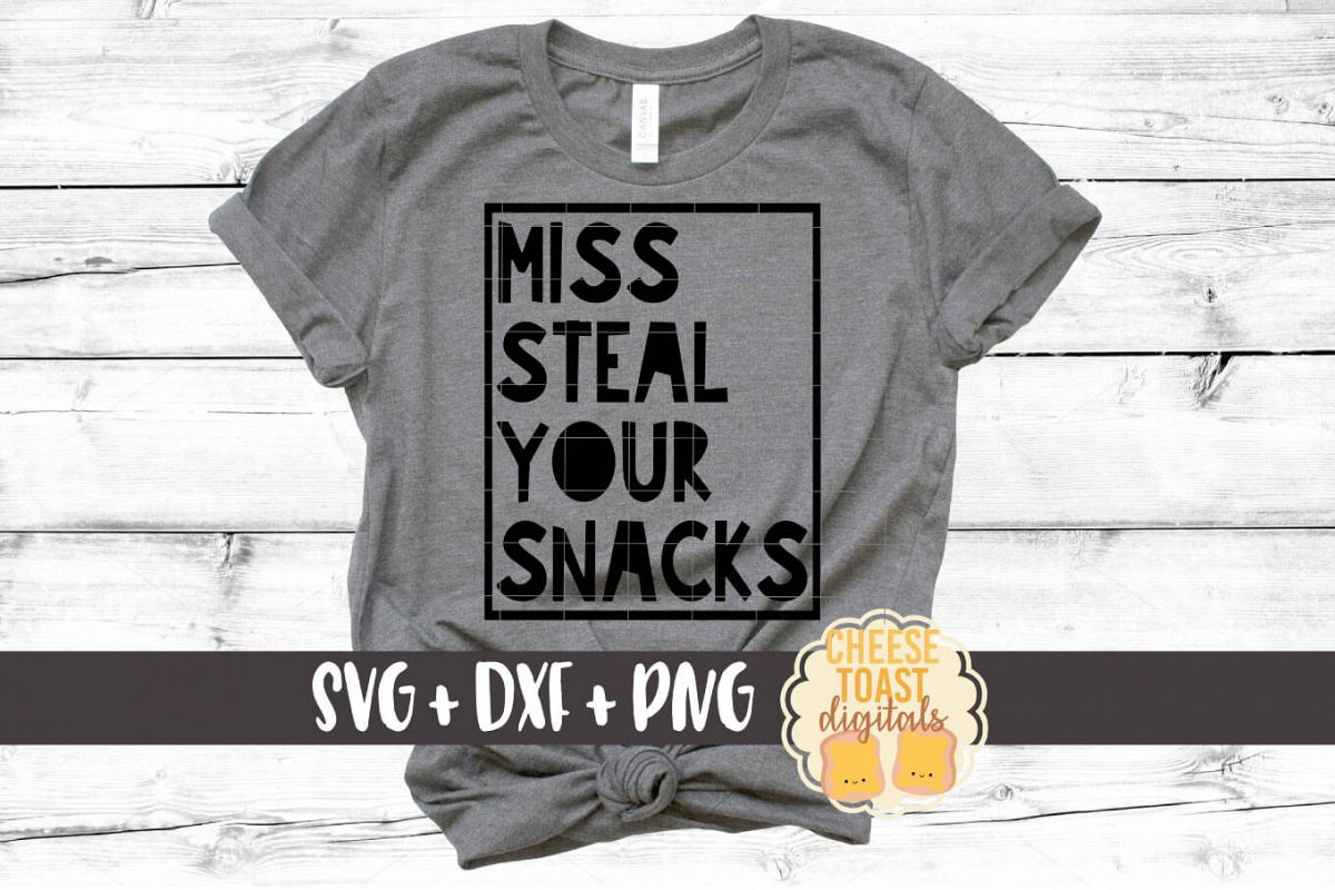 Miss Steal Your Snacks - Girl SVG PNG DXF Cut File example image 1