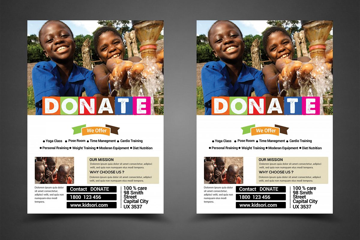 Charity Fundraisers Flyer example image 1