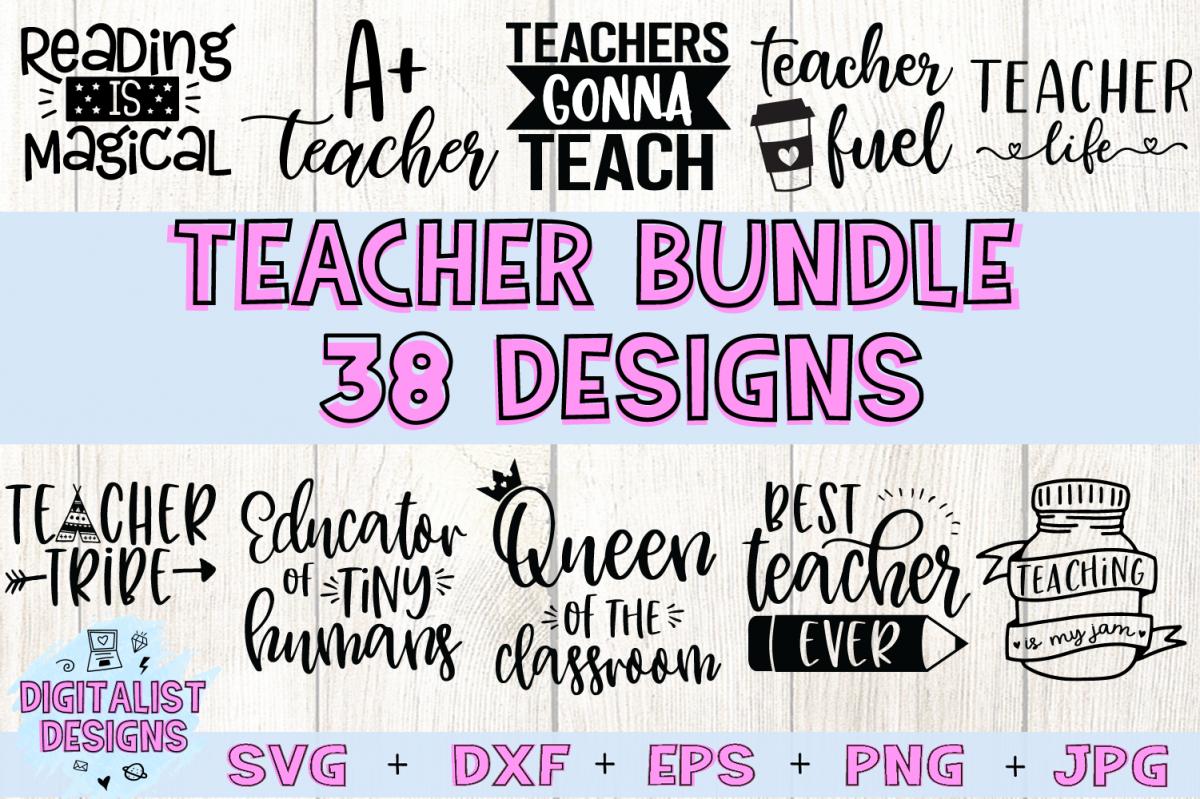 Teacher SVG Bundle   Teacher Bundle   Teacher Quotes example image 1