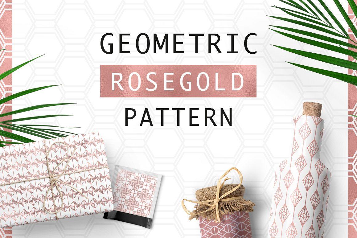 Geometric Rosegold Pattern example image 1