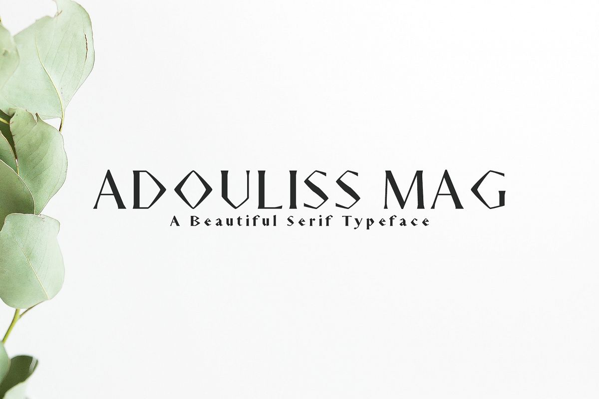 Adouliss Mag Serif Font Family example image 1