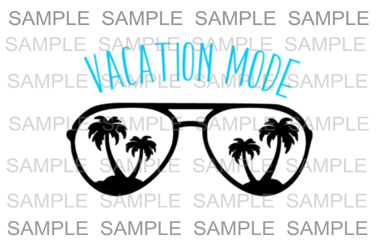 Vacation Mode Design Bundle. SVG Sil3 example image 1