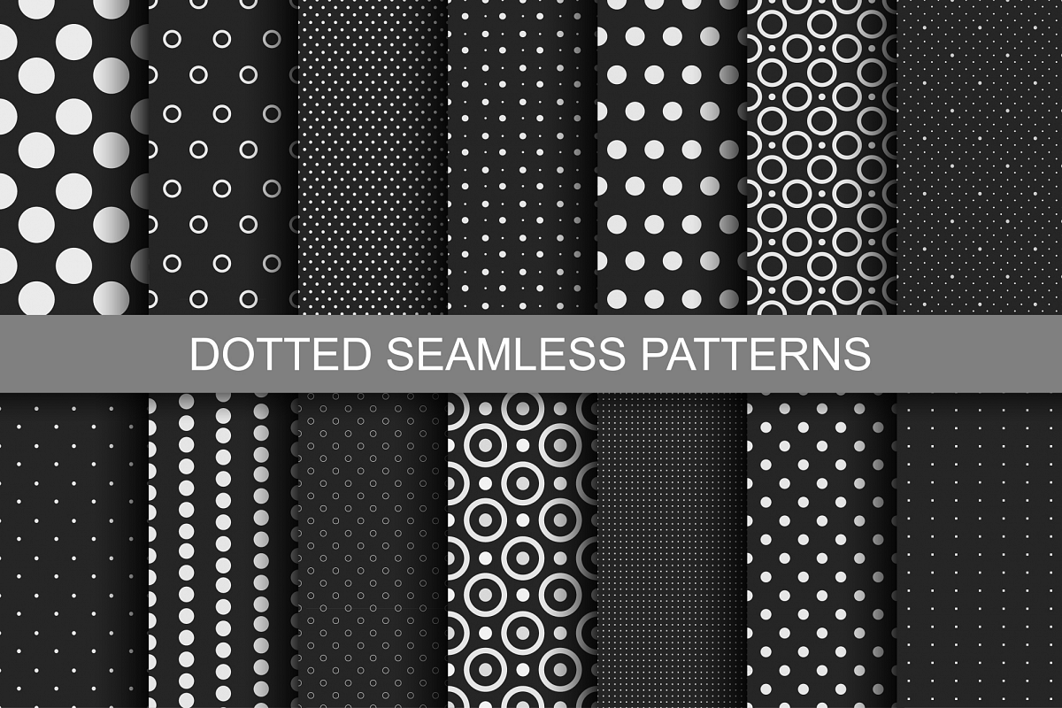 Dotted Seamless Patterns. example image 1