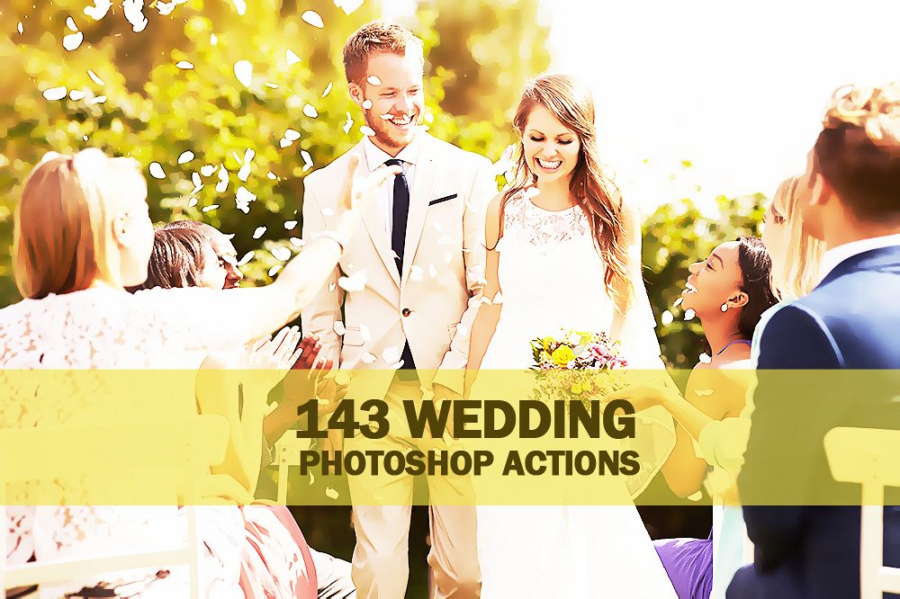 143 Wedding Photoshop Actions Collection (Action for photoshop CS5,CS6,CC) example image 1