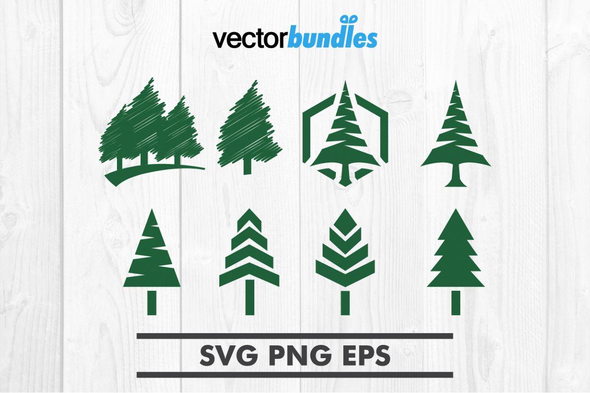 Pine tree clip art svg example image 1