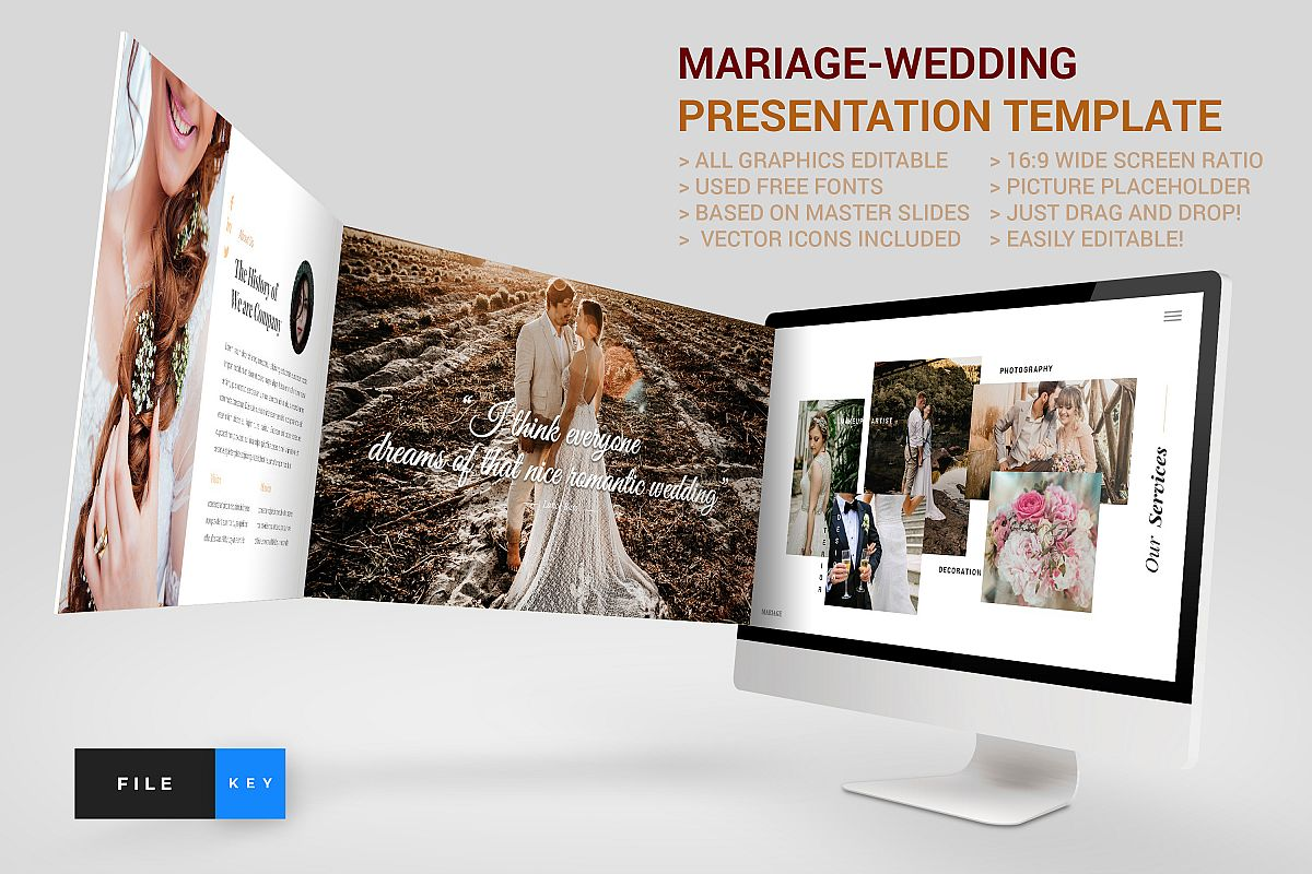 Mariage - Wedding Keynote Template example image 1