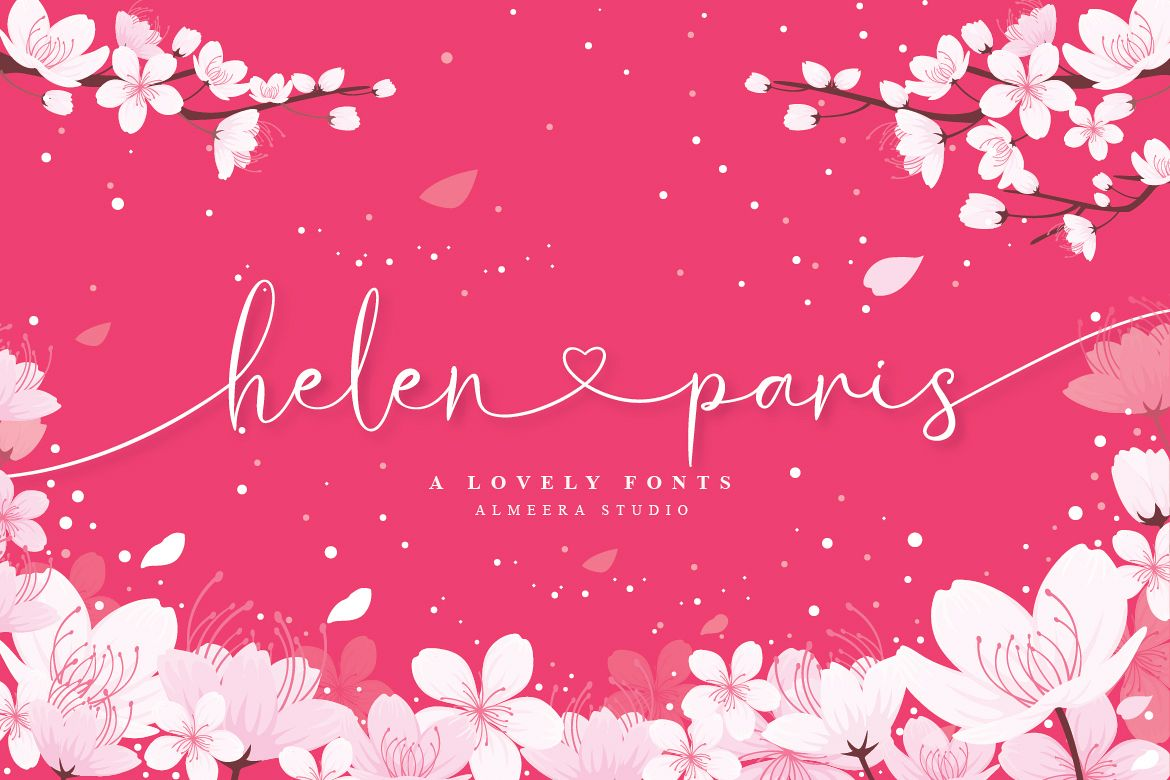 Helen Paris - Lovely Font example image 1