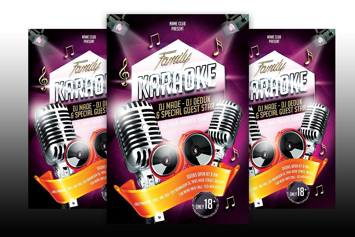 Karaoke Flyer Template example image 1