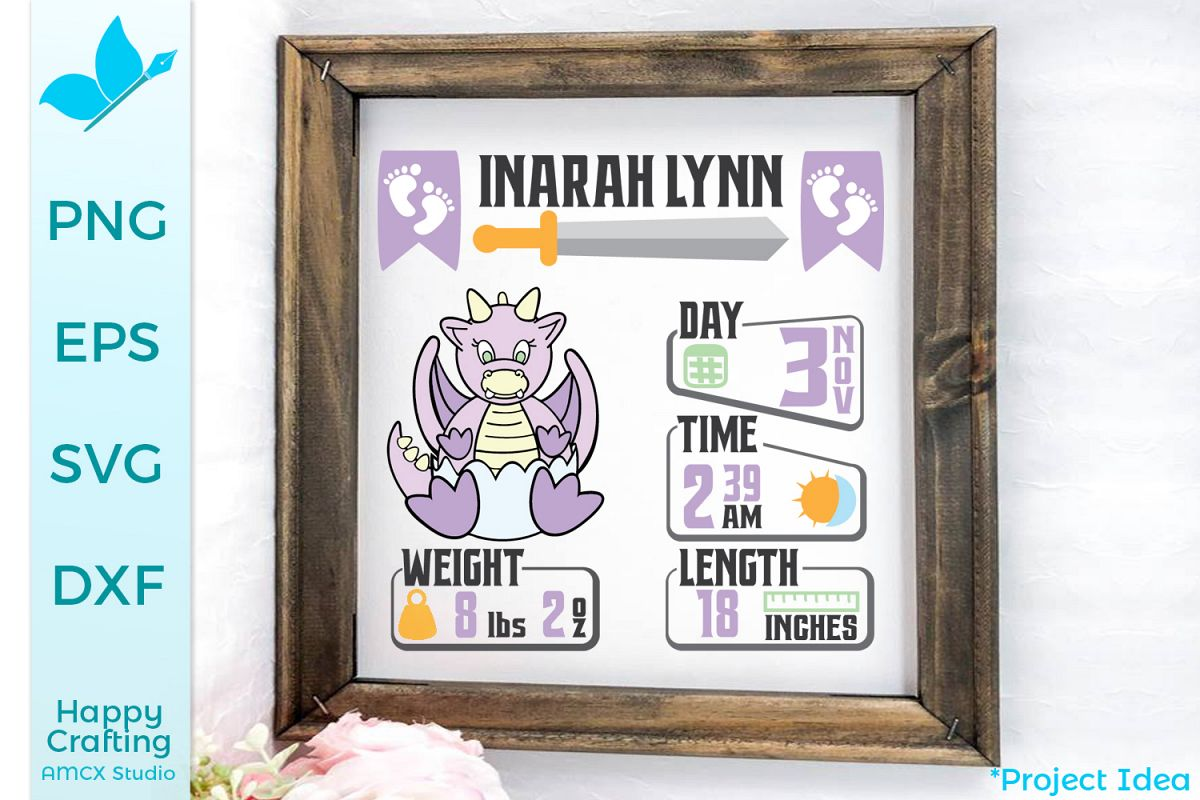 Baby Dragons - An adorable birth announcement s example image 1