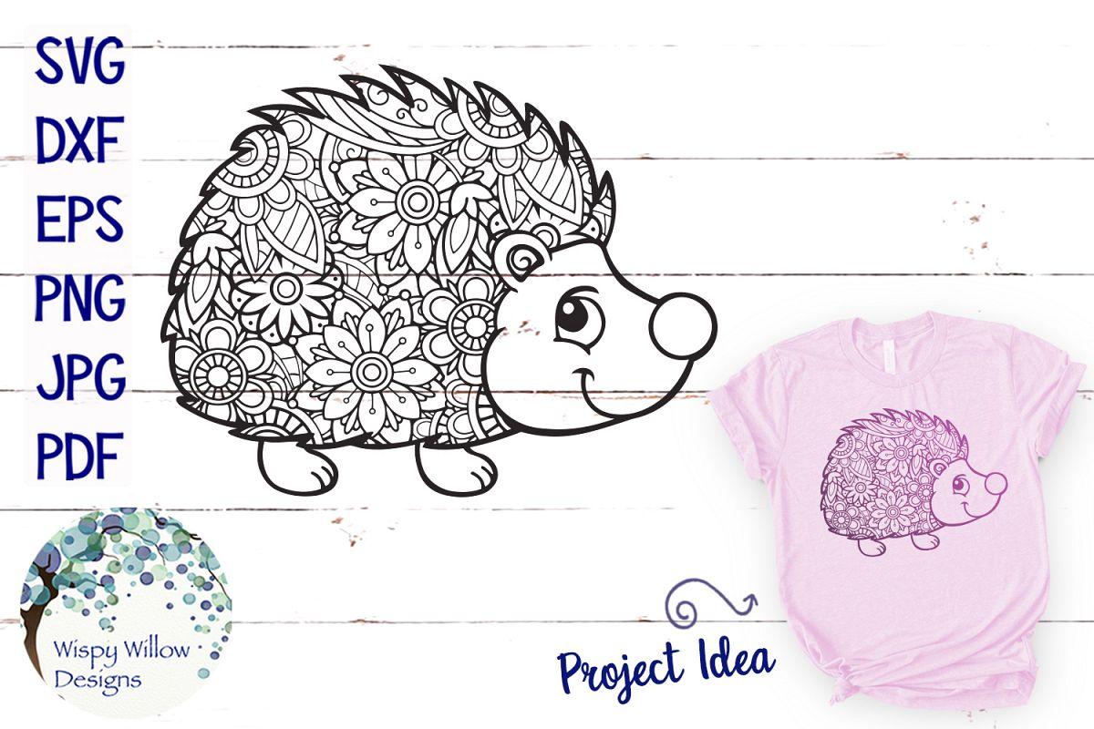 Hedgehog Zentangle SVG example image 1