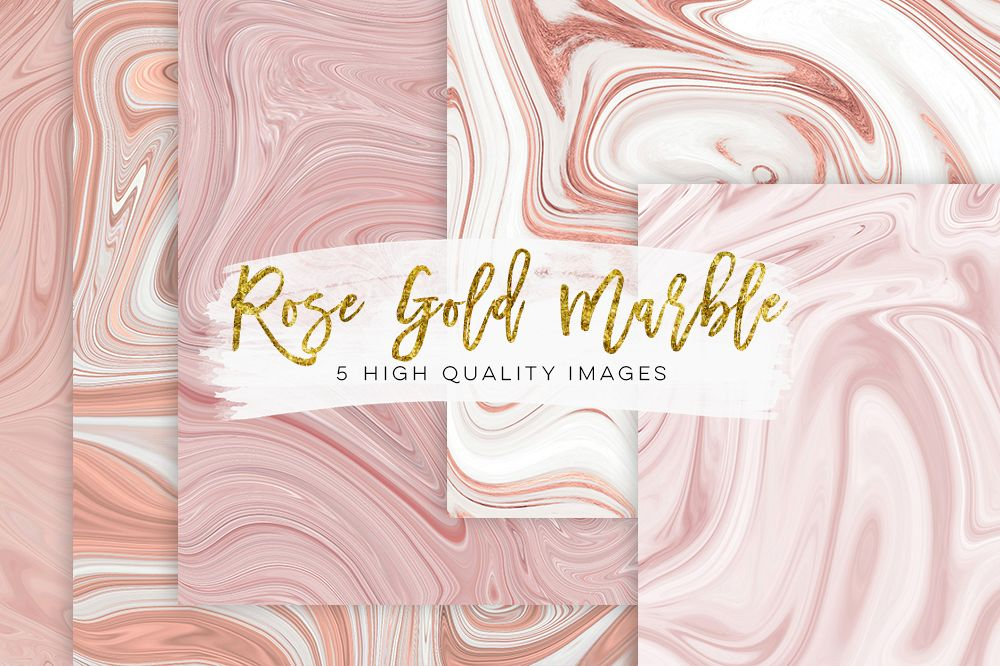Rose gold paper, Rose gold marble watercolor paper, Marble Rose Gold Foil Paper Pack, Marble Background Digital Paper, blush pink paper example image 1