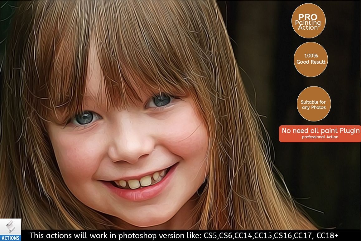 Ultimate Realistic Painting Effect - Photoshop Action example image 1