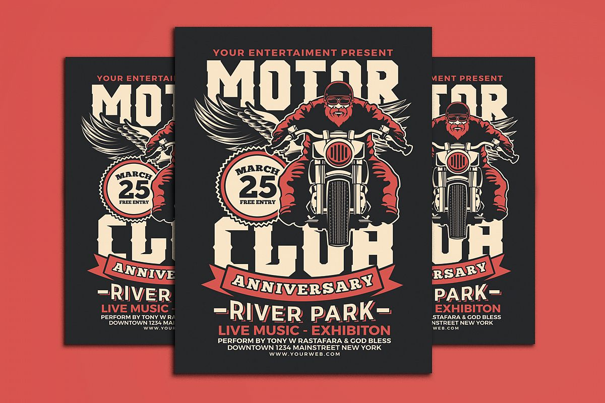 motorcycle club event flyer example image