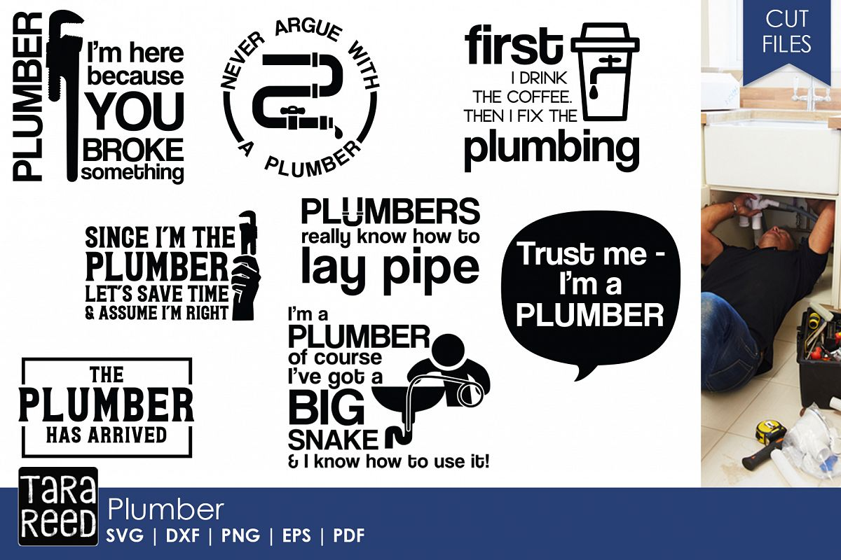 Plumber SVG and Cut Files for Crafters example image 1