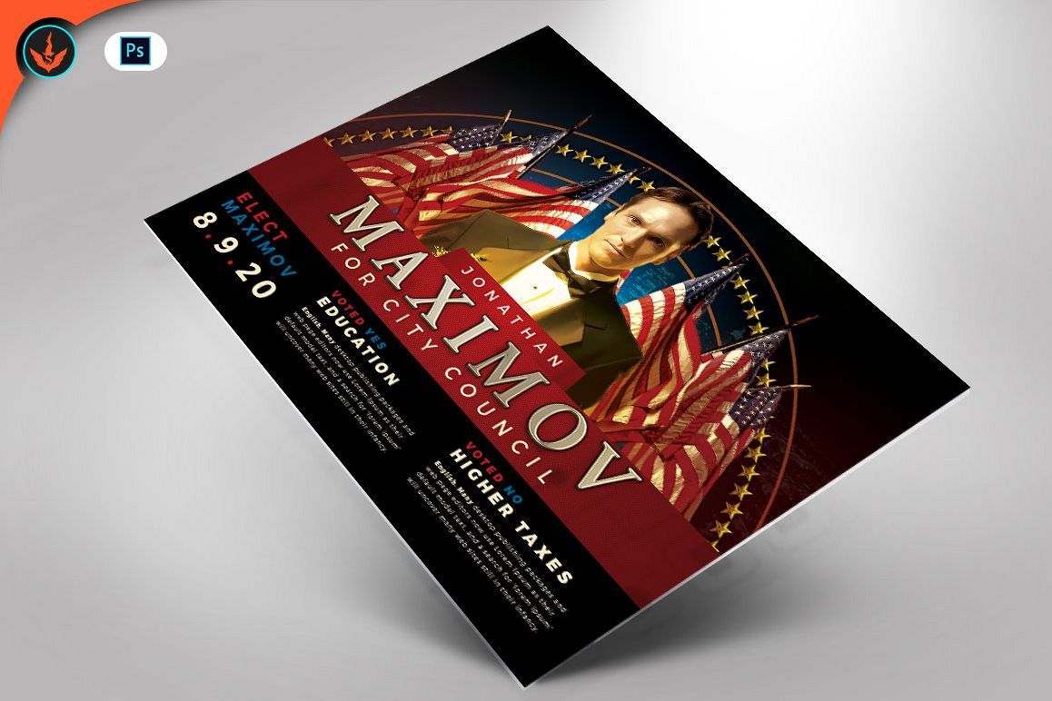 Political Flyer Photoshop Template 2 example image 1