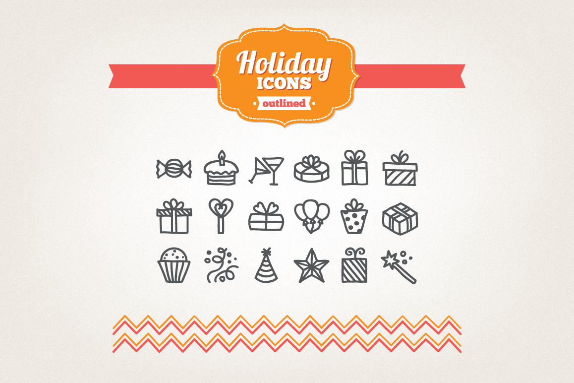 Hand Drawn Holiday Icons example image 1
