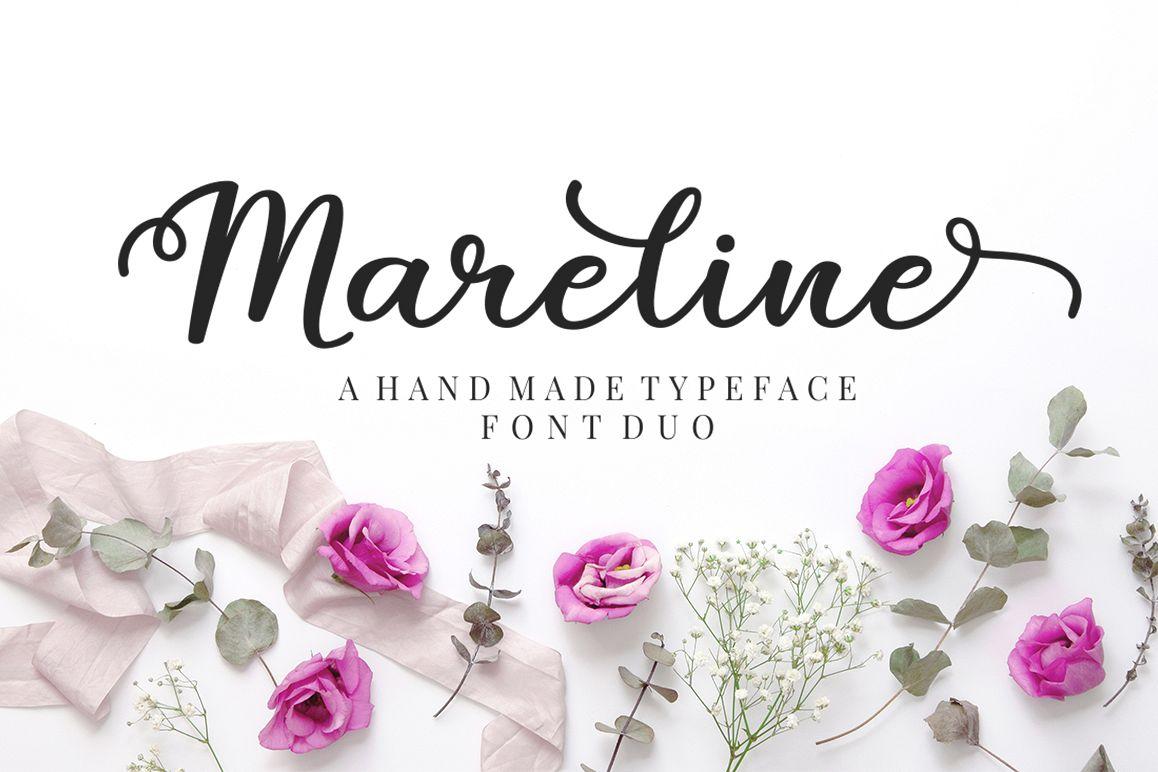 Mareline Script Font Duo example image 1