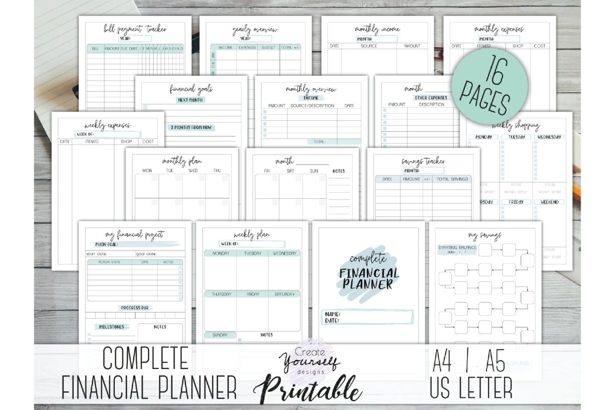 photograph about Printable Budget Planner identified as Money planner printable - finances planner cost savings tracker