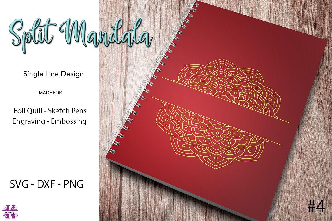 Split Mandala #4 for Foil Quill|Sketch Pen|Engraving example image 1
