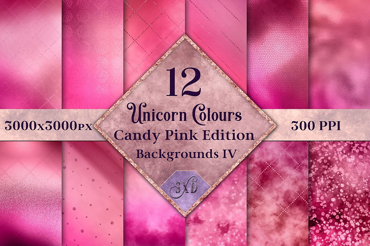 Unicorn Colours Backgrounds IV - Candy Pink Edition Textures example image 1