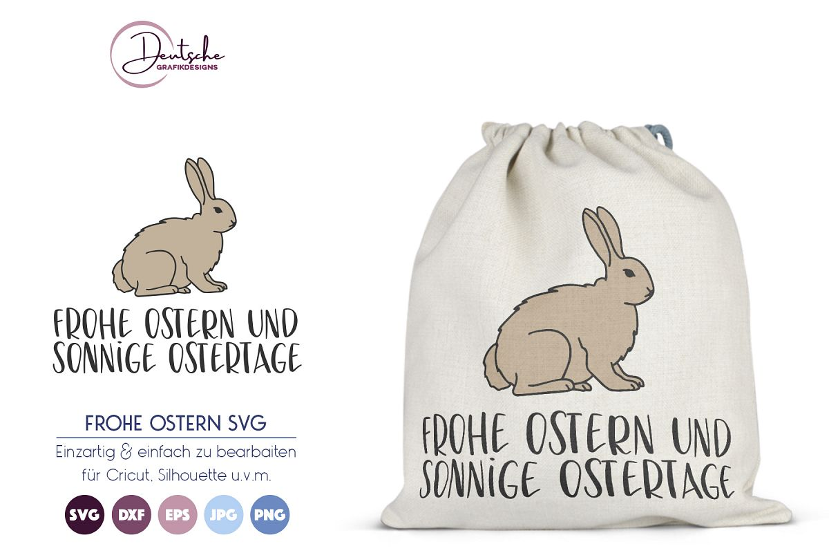 Frohe Ostern SVG   Osterhase example image 1