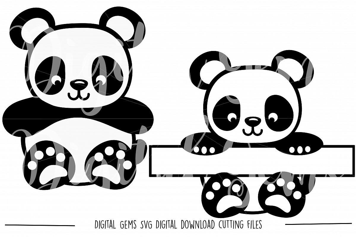Panda SVG / DXF / EPS / PNG Files example image 1
