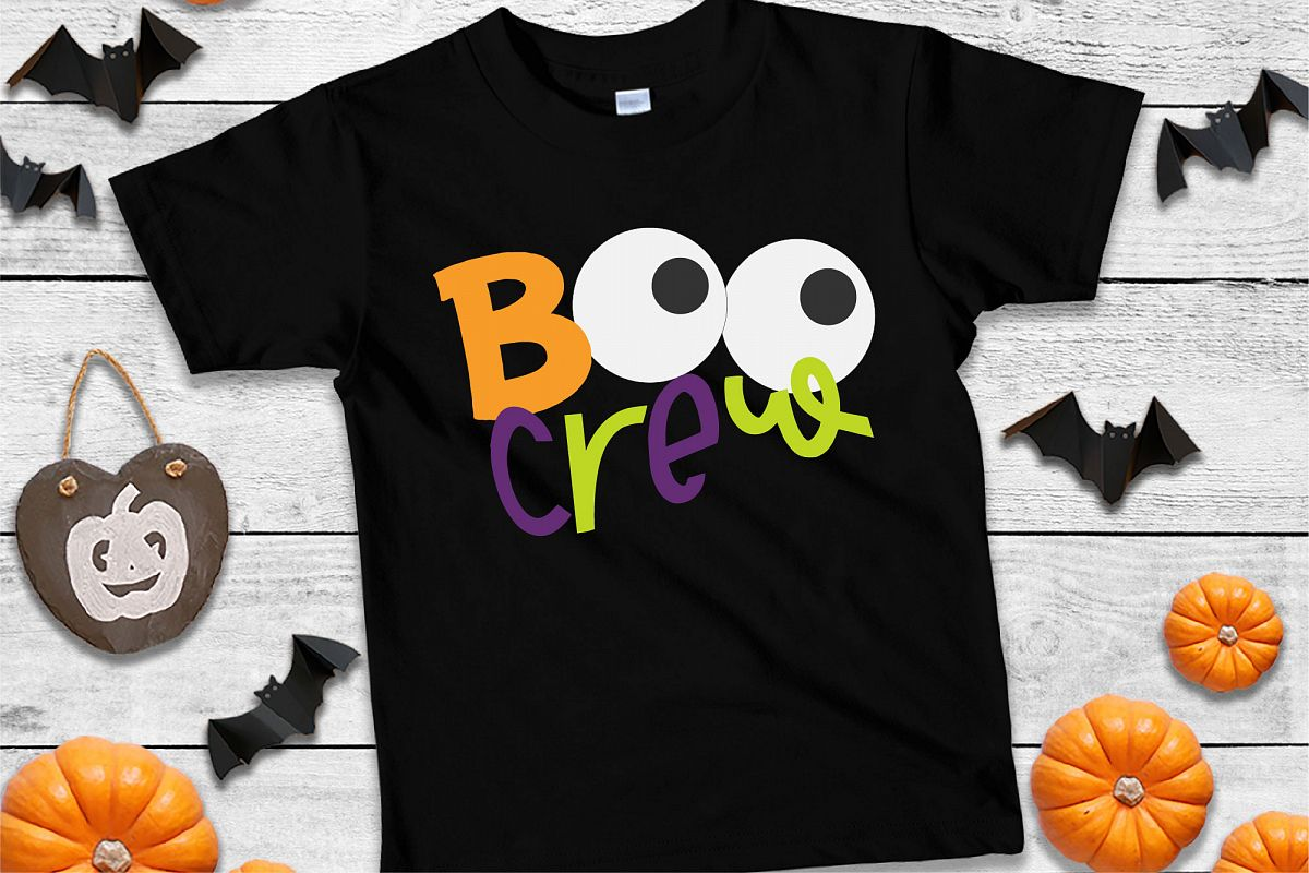 Boo Crew Halloween SVG Sublimation, Halloween Eyes SVG example image 1
