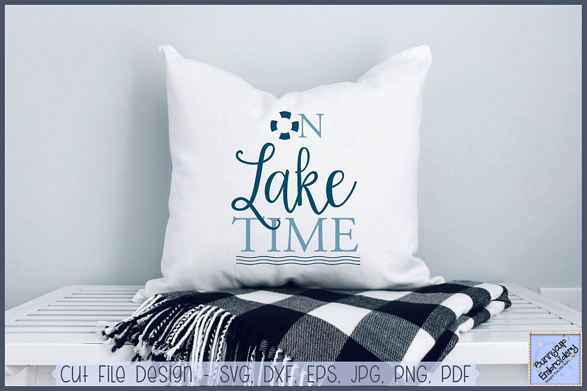 On Lake Time - SVG, Clipart, Printable example image 1