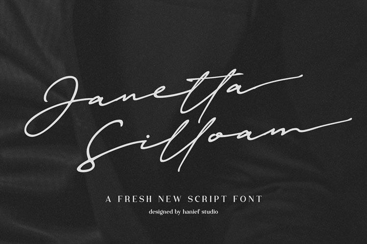 Janetta Silloam//Signature Font example image 1