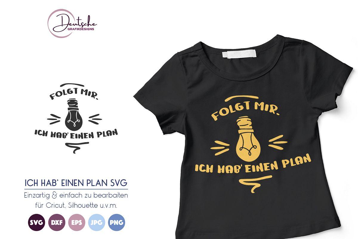 Ich hab' einen Plan | Glühbirne SVG example image 1