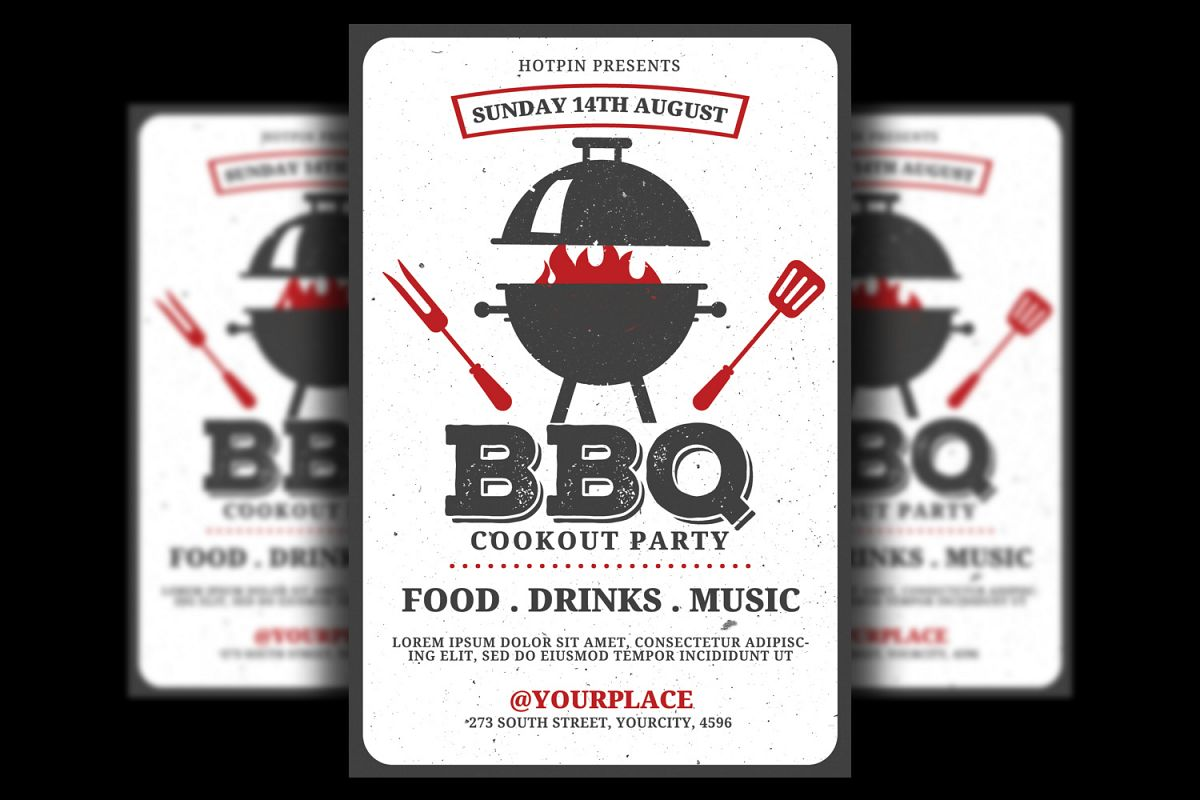 Bbq Barbecue Flyer Template example image 1