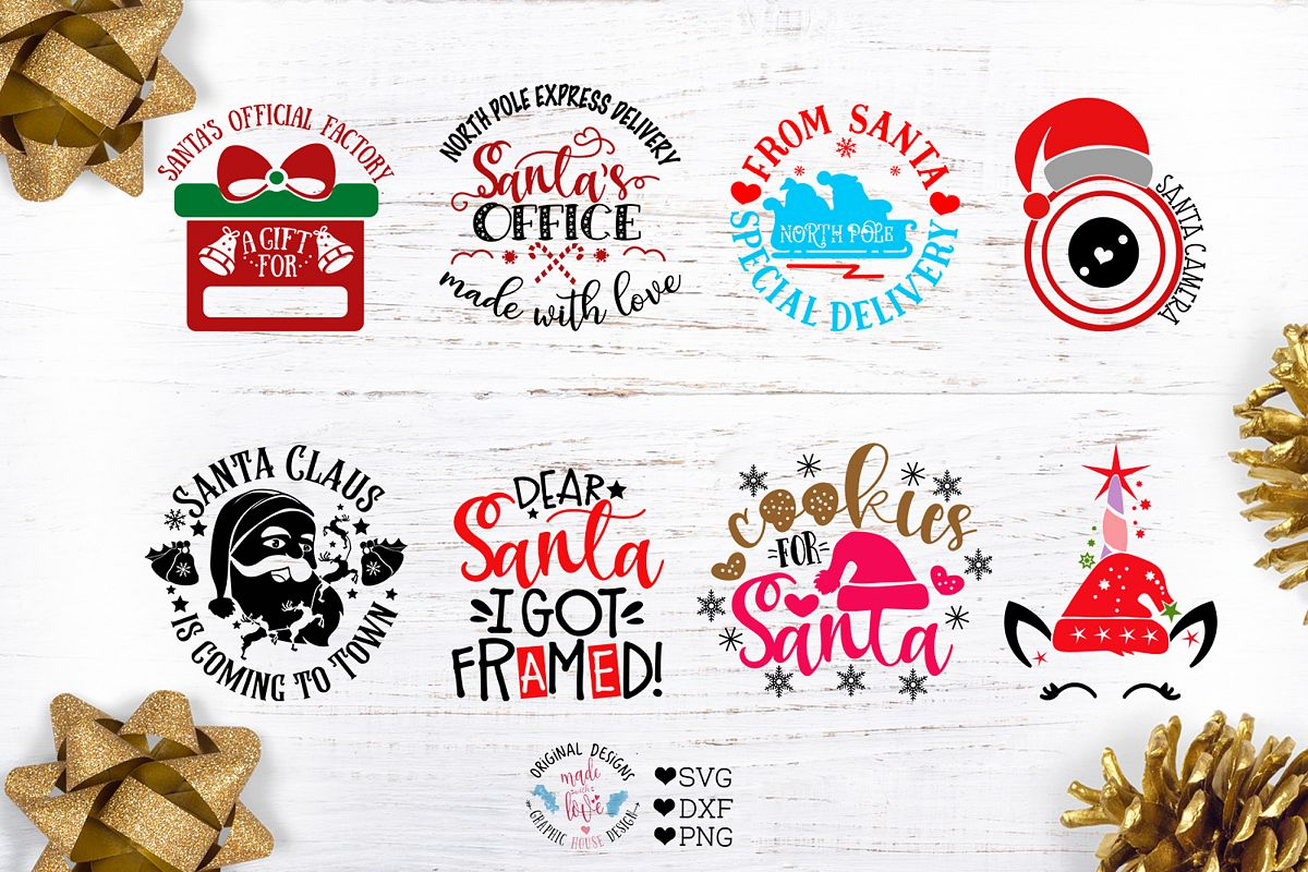 Santa Christmas Cut Files example image 1